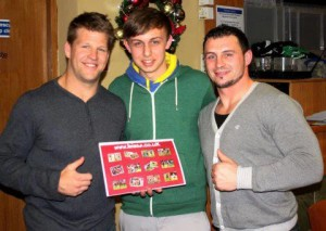 Ben Black and Ash Lindsay give calendar the thumbs up!